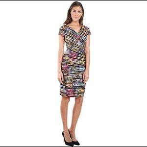 Joseph Ribkoff Multicolored Rainbow Dress Size 14